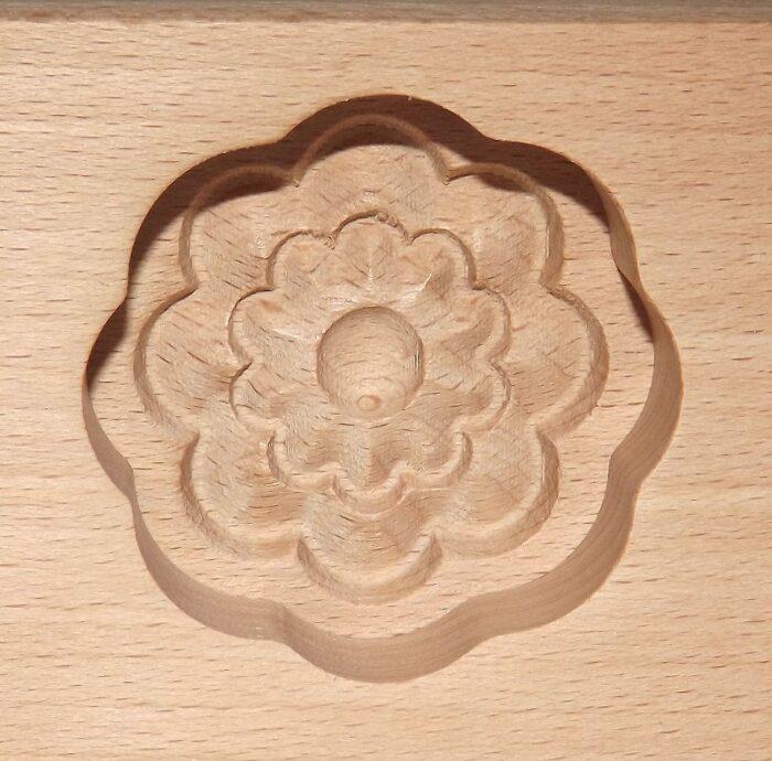 Wagashi Mold - 3 Blüten - Former für japanische Süßigkeiten (Asien) 3