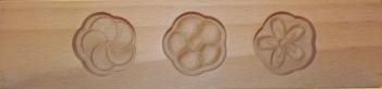 Wagashi Mold -  3 Blüten - Former für japanische Süßigkeiten (Asien) 10