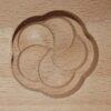 Wagashi Mold - 3 runde Blüten - Former für japanische Süßigkeiten (Asien) 2