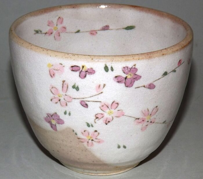 Keramik-Tassen Hana Komachi mit Unteren - 1 Paar in Präsentkarton 4