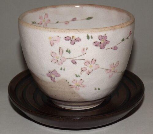 Keramik-Tassen Hana Komachi mit Unteren - 1 Paar in Präsentkarton 15