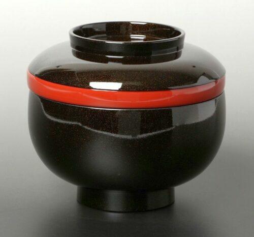 Lack Deckel-Bowl Sanbu kuro 2