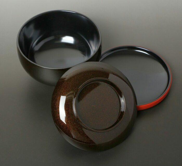 Lack Deckel-Bowl Sanbu kuro 1