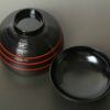 Lack Deckel-Bowl Dangan kuro -groß- 3