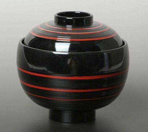 Lack Deckel-Bowl Dangan kuro -groß- 4