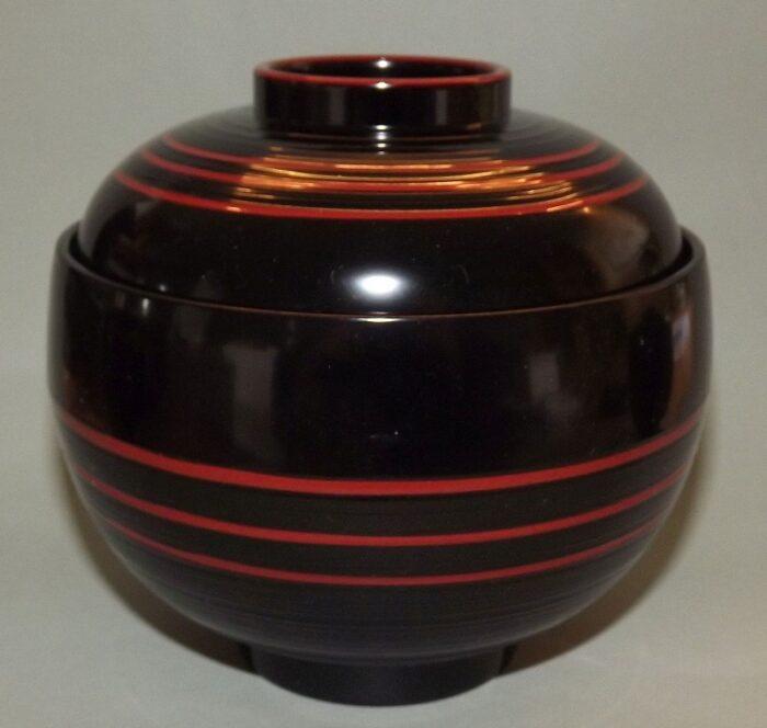 Lack Deckel-Bowl Dangan kuro -groß- 1