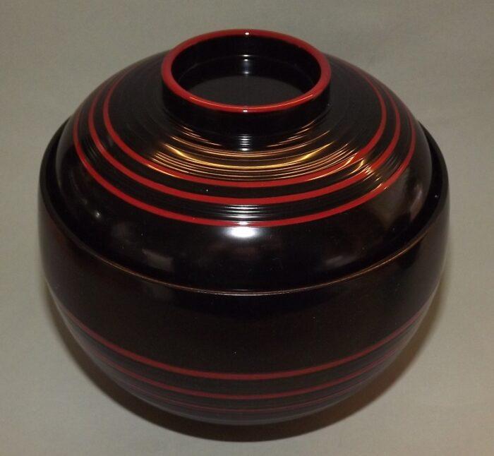 Lack Deckel-Bowl Dangan kuro -groß- 5