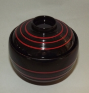 Lack Deckel-Bowl Dangan kuro -groß- 11
