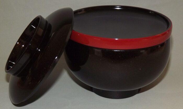 Lack Deckel-Bowl Sanbu kuro 4
