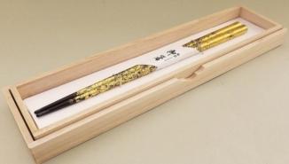 URUSHI Ohashi-Paar mit Blattgold handmade 9