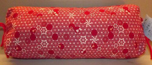 Makura Traditionelles Kopfkissen 40 cm Asanoha-Chidori red 10