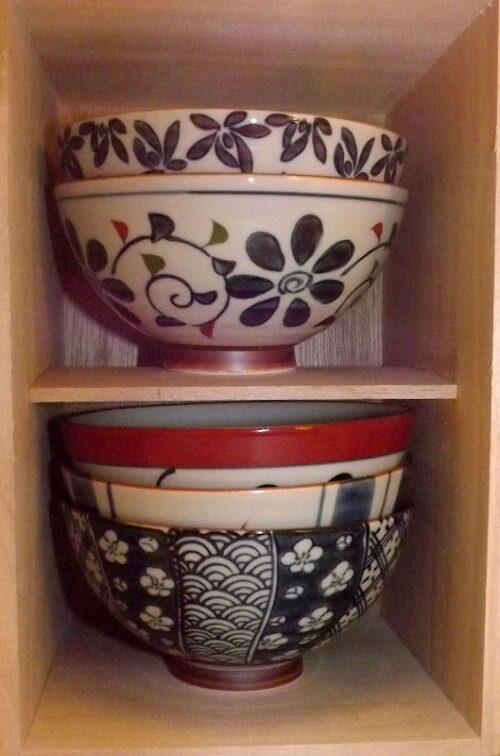 Keramik-Set 5 Bowls Saikaitoki 25
