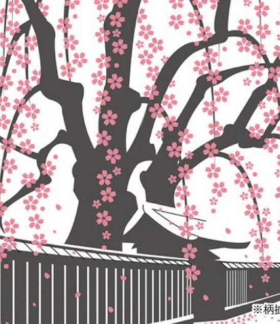 Tenugui Sakura shiro 1