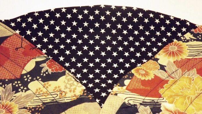 Kinchaku Hana aoi - 2 seitig zu tragen 2