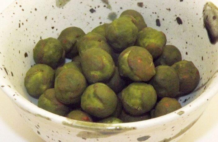 Senbei Uguisu Ball Maccha 71g Uegaki Seika - VEGAN - ohne Geschmacksverstärker 1