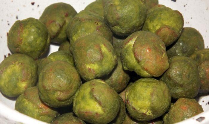 Senbei Uguisu Ball Maccha 71g Uegaki Seika - VEGAN - ohne Geschmacksverstärker 2