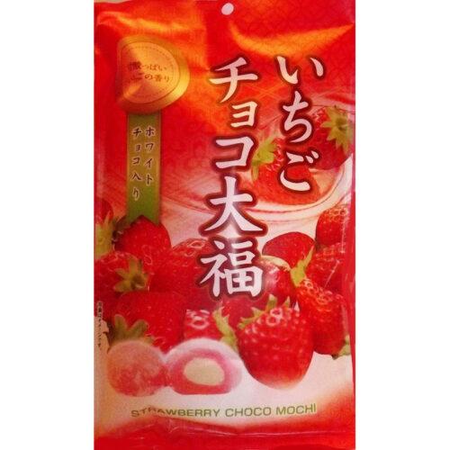 Ichigo-Mochi Choccora - Reiskuchen mit Erdbeer + weißer Schokolade