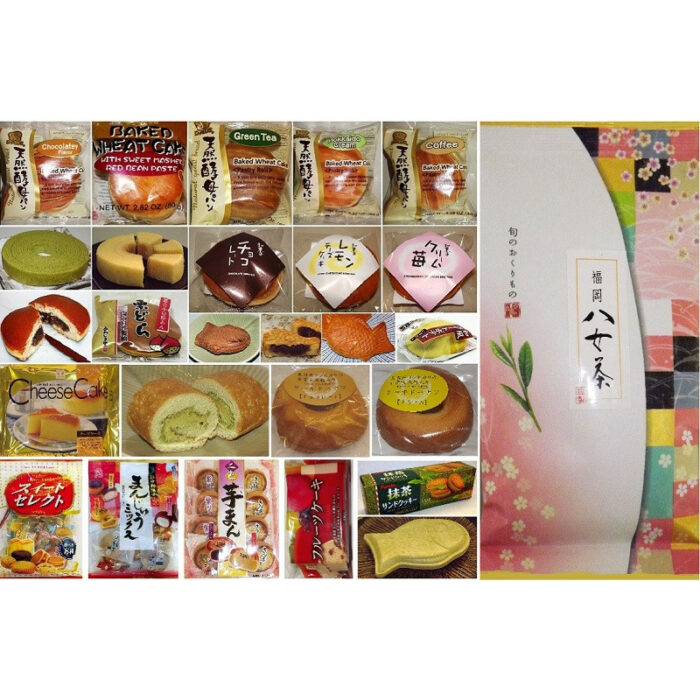 Großes Japan-Kuchen-Sortiment 26 tlg. - auch mit Tee 1